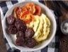 Boudin noir aux pommes purées panais et pomme de terre à l'huile de romarin Fleur de sel Le Guérandais