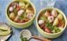 Bouillon thaï de pommes de terre et légumes croquants