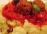 Boulettes végétales sur purée de pommes de terre au frauxmage à la crème