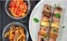 Brochette de filet de canard Bio courgettes figues et abricots