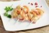 Brochettes de crevettes et Saint Jacques marinées