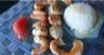 Brochettes de crevettes et saint jacques sauce agrumes