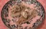 Brochettes de saumon à la pistache et fritelle di spaghetti