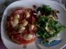 Bruschetta tomate chèvre et jambon cru