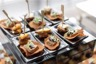 Canapé mousse de foie gras magret fumé et noix