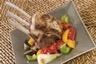 Carré d'agneau poêlée de légumes du soleil