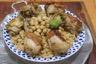 Chakhchoukha- poulet rôti sauce blanche - pâtes traditionnelles de la campagne bônoise