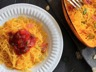 Courge spaghetti à la carbonara au Companion