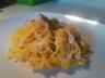 Courge spaghetti au saumon