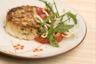 Crabe cake mesclun de salade