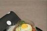 Crémeux de panais oeuf de caille au plat et éclats de châtaigne