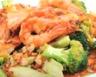 Crevettes sautées aux brocolis