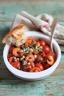Crevettes sautées aux tomates cerises et feta