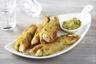 Croustillant d'aiguillettes de poulet au curry