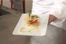 Croustillant de saumon fumé chips de parmesan sauce au raifort