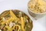 Curry minute d'agneau aux fruits semoule à la mangue