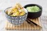 Curry vert de volaille au lait de coco purée de pommes de terre à la cive
