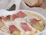 Endives braisées au jambon en crème de Saint Agur