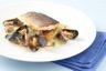 Filet de bar croustillant fenouil rôti pommes de terre dijonnaise et beurre blanc aux coquillages