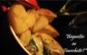 Filet de canard rôti sauce crémeuse au shitaké et bulles de champagne avec coeur de légumes au beurre Saint Valentin