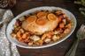 Filet de dinde rôti à la clémentine 'Farce' aux croûtons cranberries et patates douces