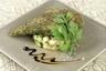 Filet de poulet fermier pané à la chapelure d'herbes compotée de légumes