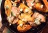 Filet mignon de porc gorgonzola poires rôties et jus au porto