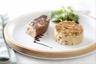 Foie gras poêlé crumble de pommes au pain d'épice