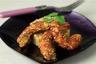 Gambas panées au sésame et quinoa au safran