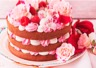 Gâteau à la framboise et à la rose