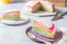 Gâteau de crêpes multicolore