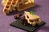 Gaufre liégeoise aux épices foie gras et chutney d'oignons rouges