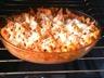 Gratin de pâtes facile au poulet sauce tomate et fromage frais