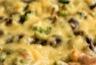 Gratin de pommes de terre aux épinards et champignons
