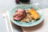 Magret de canard mariné aux saveurs asiatiques ananas rôti aux épices & orge perlé {Concours Champagne en Cuisine}