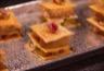 Mille feuille foie gras, magret fumé et pomme