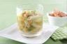 Minestrone aux légumes du potager granité tomate et ciboulette