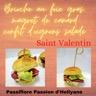 Mini brioche au foie gras, magret de canard avec du confit d'oignons