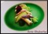 Mini roulés de Roquefort Papillon aux amandes caramélisées à l'érable maquereau snacké et pomme granny