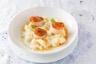 Noix de Saint-Jacques rôties purée de panais à la vanille jus d'agrumes et jus de carotte