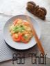 Pad Thaï {Nouilles de riz Poulet & Crevettes sautés au Wok}