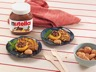 Pêches au Nutella et amaretti
