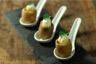 Petites pommes de terre farcies aux oeufs de caille