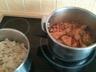 Pilons de poulet à la sauce tomate olives et champignons