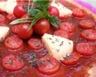 Pizza à La vache qui rit et tomates cerise