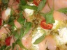 Pizza saumon pesto ricotta