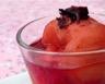 Poires pochées au sirop de fleurs d'hibiscus et gingembre