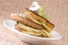 Pomme Anna au foie gras et champignons crus