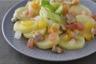 Pomme de terre aux coques vinaigrette aux agrumes