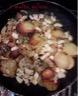 Pommes de terre sautées à cru et encornets au piment d'espelette